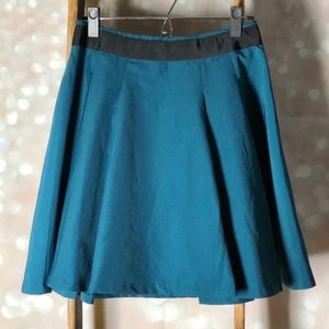 The Limited Teal & Black A-Line Mini Skirt